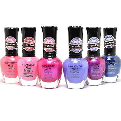 KLEANCOLOR 6 SCENTED LACQUER NAIL POLISH LACQUER COLLECTION 6SCENTED_SET