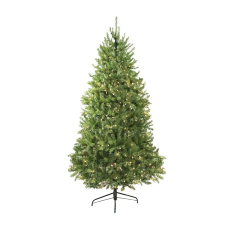12' Pre-Lit Northern Pine Full Artificial Christmas Tree - Clear -