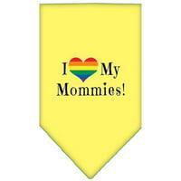 I heart my Mommies Screen Print Bandana Purple Small