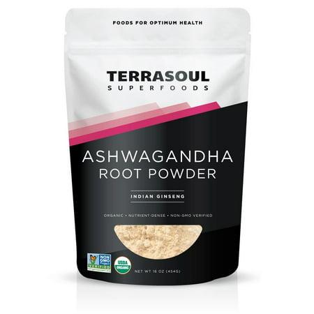 Ashwagandha Winter Cherry Powder - Terrasoul Superfoods Organic Ashwagandha Powder, 1.0 Lb