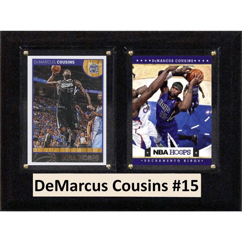 "C & I Collectables NBA 6"" x 8"" DeMarcus Cousins Sacramento Kings Two-Card Plaque"