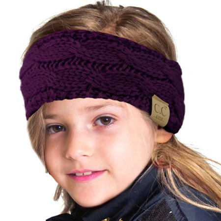 CC Kids Fuzzy Lined Ages 2-7 Fleeced Headwrap Headband Earwarmer Winter Knit