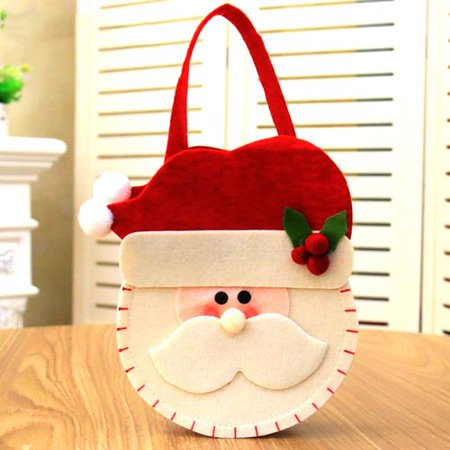 Santa Claus Shoes (AkoaDa Santa Claus Christmas Candy Bag Elf Shoe Cute Kids Favor Gift Lovely Party)