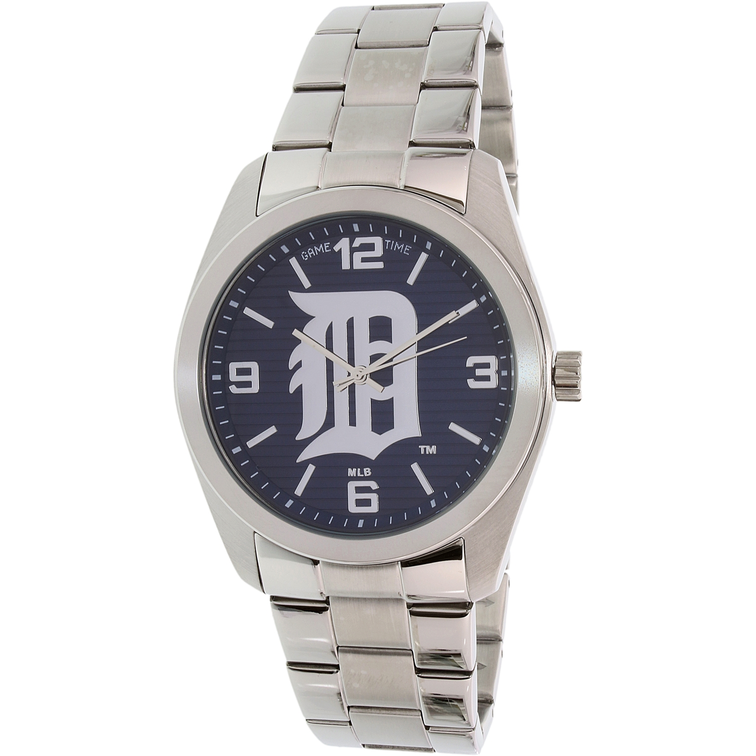 Gametime Men's Elite Detroit Tigers MLB-ELI-DET Silver Stainless-Steel Quartz Dress Watch