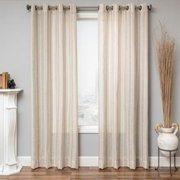 Softline  Cambridge Faux Linen Grommet Top Curtain Panel