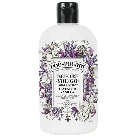 Poo~Pourri Before-Go-Go Toilet Spray, Lavender Vanilla Scent,