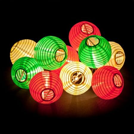 Gemmy 10 Light Fiesta Lanterns Mini Light String