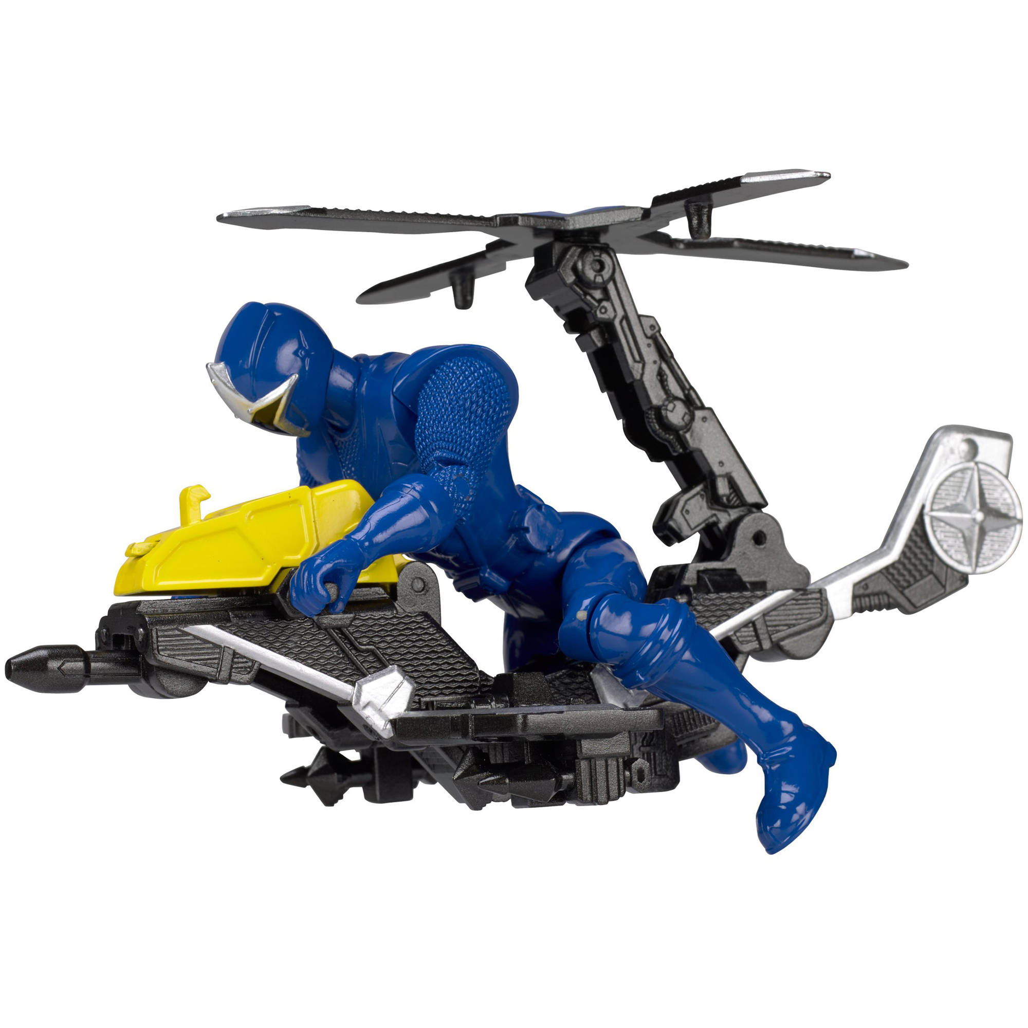 Power Rangers Ninja Steel Power Rangers Mega Morph Copter with Blue Ranger by Bandai America, Inc