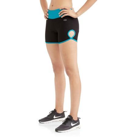 N.Y.L. Sport Women's Performance Bike Shorts With Contrast Trim
