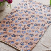 Hamsters Pad Pet Blanket Cat Dog Puppy Mat Warm Bed Paw Pattern Cover