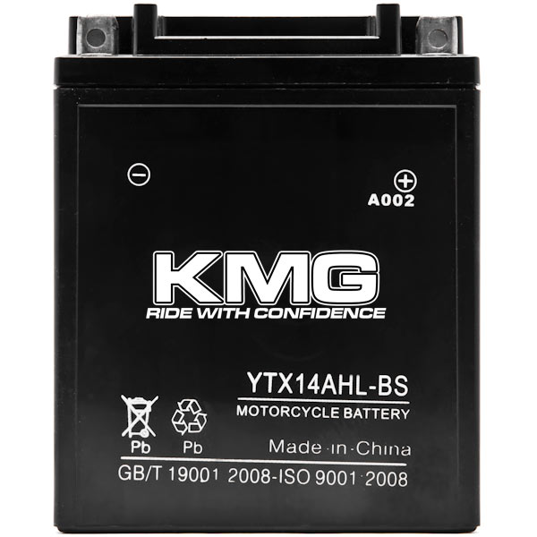 KMG YTX14AHL-BS Battery For Arctic Cat Jag AFS L/T 1989-1993 Sealed Maintenace Free 12V Battery High Performance SMF OEM Replacement Maintenance Free Powersport Motorcycle ATV Snowmobile Watercraft - image 2 de 3