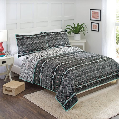 Better Homes and Gardens Onyx Aztec Quilt Collection by E&E Co.
