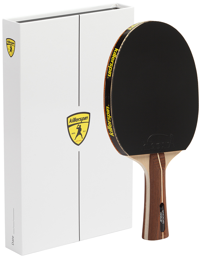 Killerspin Mocha Jet 200 Ping Pong Table Tennis Paddle Racket