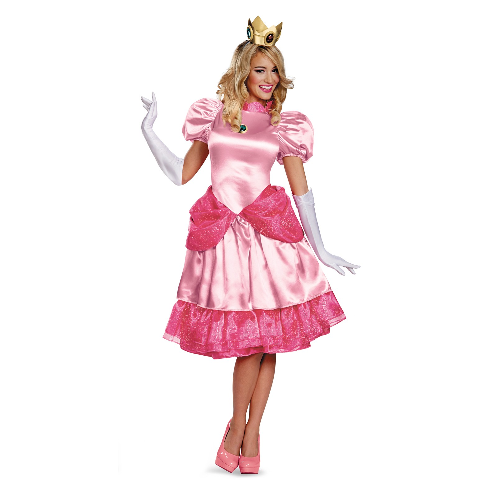 Super Mario Brothers Deluxe Princess Peach Womens Adult Halloween