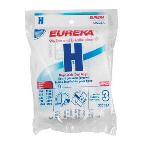Eureka Eureka Style H For Canister Vacuum Bag (Set of 3)
