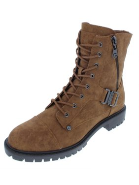 8315dddf733 Product Image G by Guess Womens Peeder Faux Leather Lace-Up Combat Boots