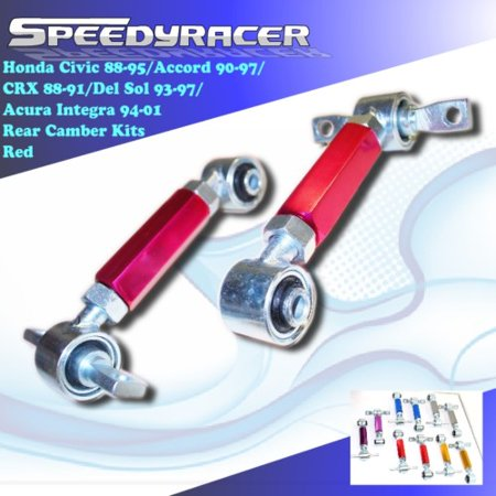 Crx Replacement Parts (88-91-95 CIVIC CRX 90-97 Accord 94-01 INTEGRA 93-97 DEL SOL Rear Camber Kit (Various Color Options) )