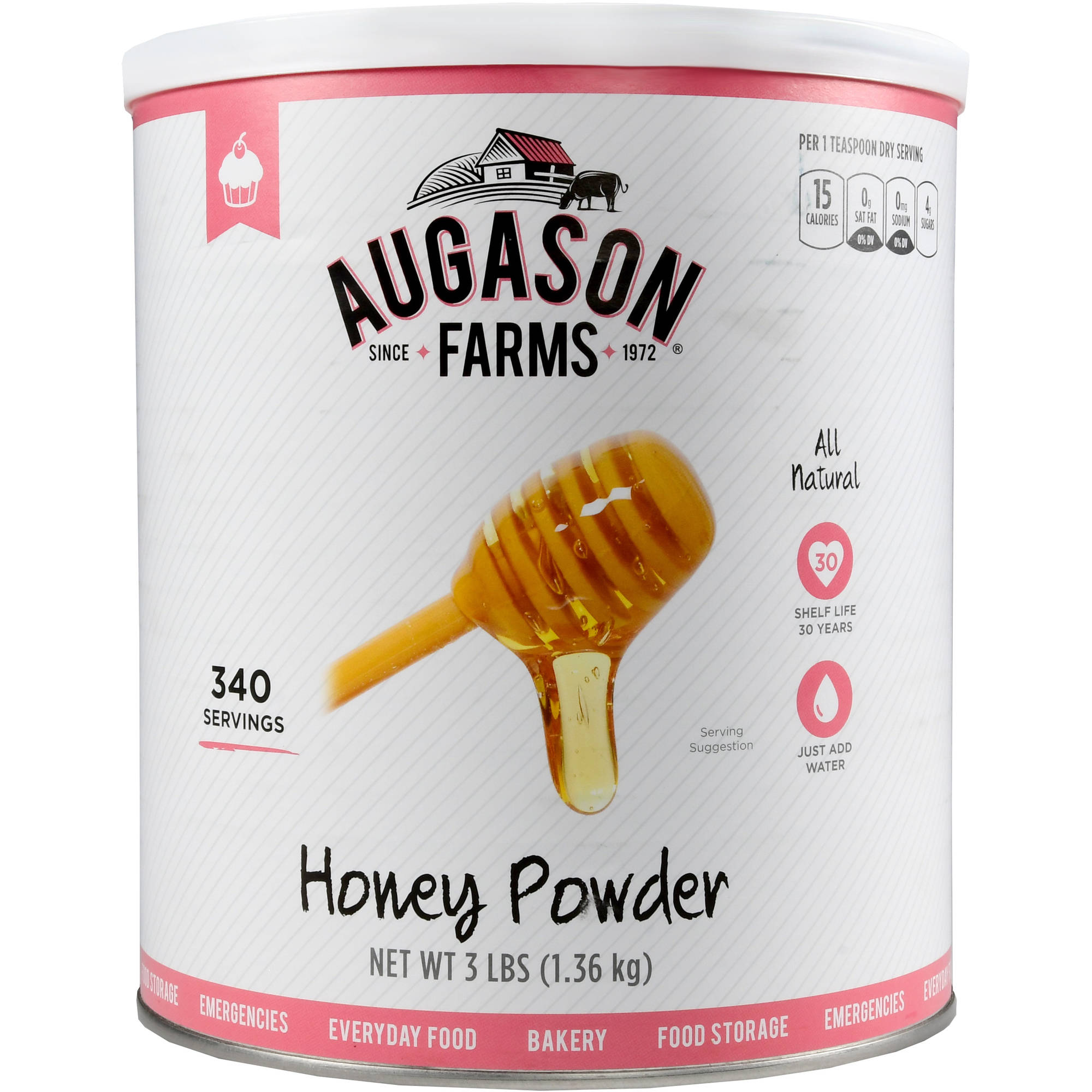 Augason Farms Emergency Food Honey Powder, 3 lb by Generic