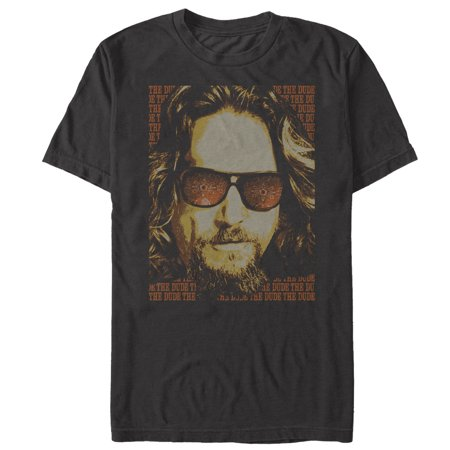 The Big Lebowski Men's The Dude Text Poster T-Shirt (Old Dudes Rule T Shirt)