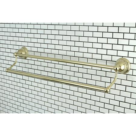 Kingston Brass Restoration Polished Brass 24-inch Double Towel Bar - Gold - Gold Towel Bar