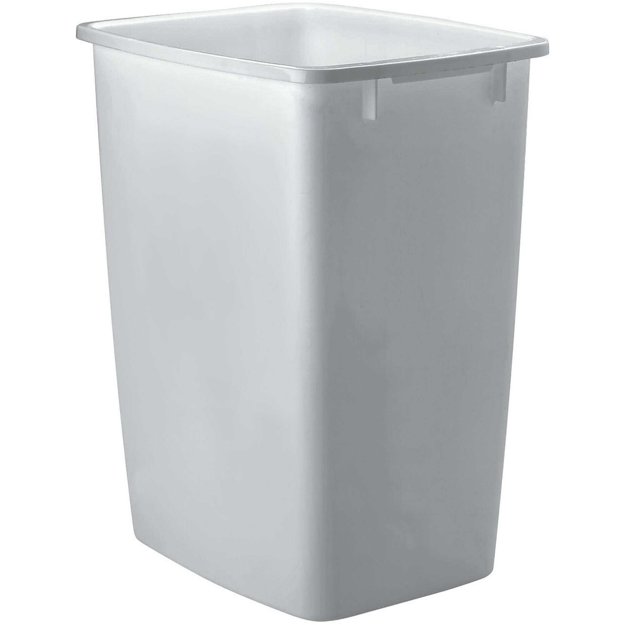 Waste Basket rubbermaid wastebasket, 9 gal, white - walmart