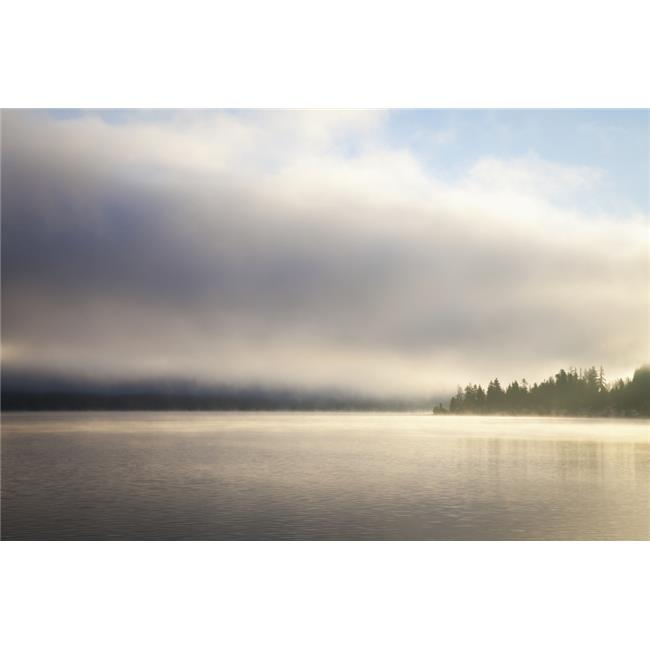 Posterazzi DPI12278557LARGE Low Cloud & Mist on Lake Whatcom at Sunrise - Bellingham Washington United States of America Poster Print - 38 x 24 in. - Large - image 1 de 1