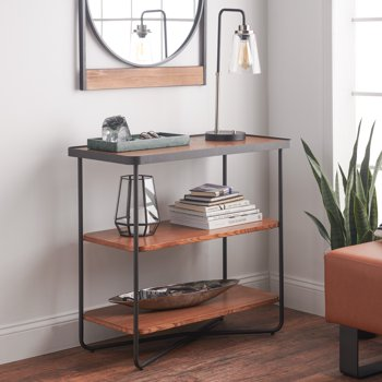 MoDRN Industrial Callen Wood Console Table