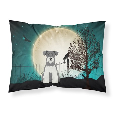 Halloween Scary Miniature Schanuzer Salt and Pepper Fabric Standard Pillowcase BB2244PILLOWCASE