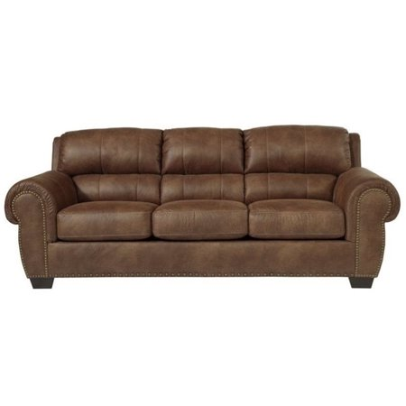 Ashley Burnsville Faux Leather Queen Size Sleeper Sofa In