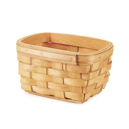 Wood Country Basket: Rectangle, 6.5 x 4.5 inches ()