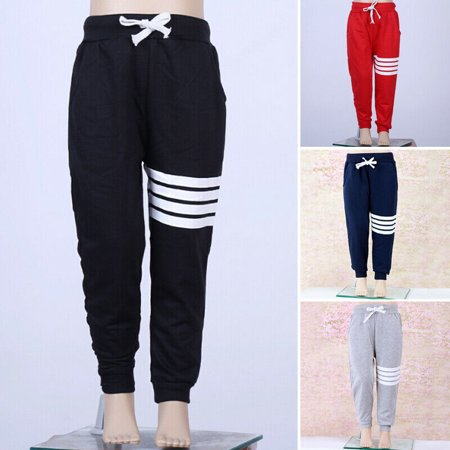Fashion Cool Boy Girl Sports Pants 1Y-7Y Baby Boy Girls Sports Pants Toddler Kid Sweat Pants Joggers Elastic Bottoms
