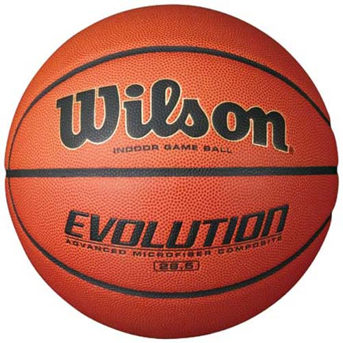 Wilson Evolution Intermediate Size Game Basketball by Wilson