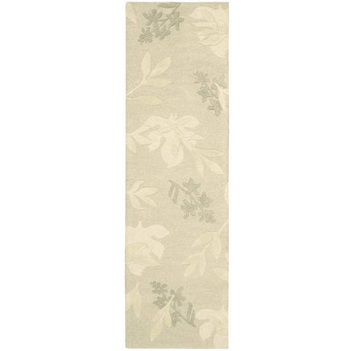 "Nourison Skyland Floral Imprints Wool Runner, 2'3""x8'0"""