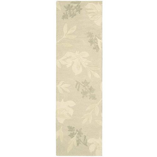 """Nourison Skyland Floral Imprints Wool Runner, 2'3""""x8'0"""""""