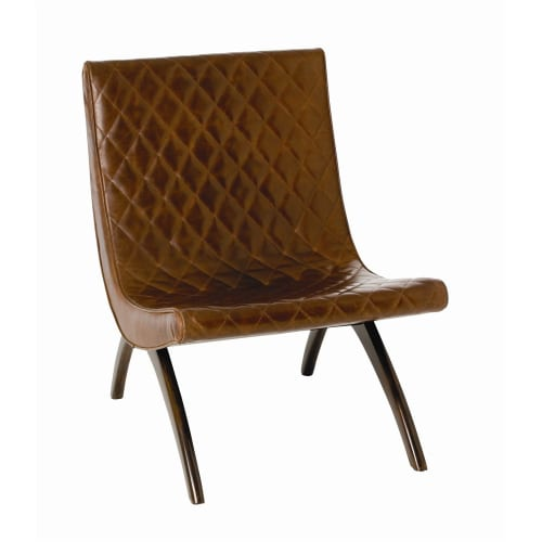 Arteriors 2596.6740 Danforth 31 Inch Tall Wood Framed Leather Chair by Arteriors