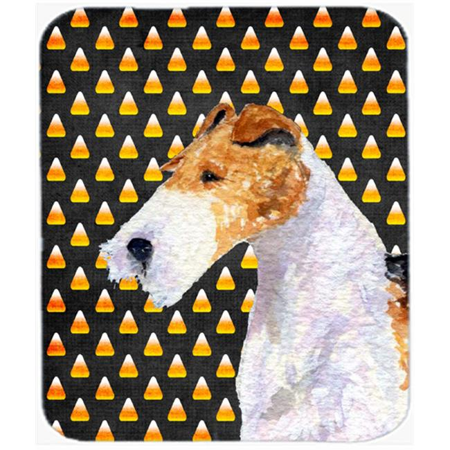 Carolines Treasures SS4271MP Fox Terrier Candy Corn Halloween Portrait Mouse Pad, Hot Pad Or Trivet - image 1 of 1