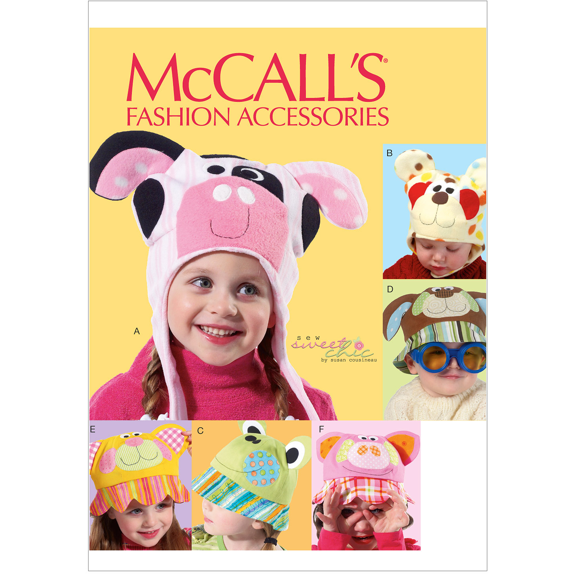 McCall's Pattern Children's Hats, All Sizes