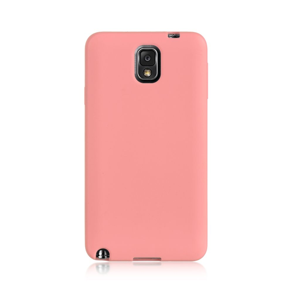 Insten Wrap-up Hard Skin Back Case w/ Screen Protector For Samsung Galaxy Note 3 - Pink - image 1 of 3