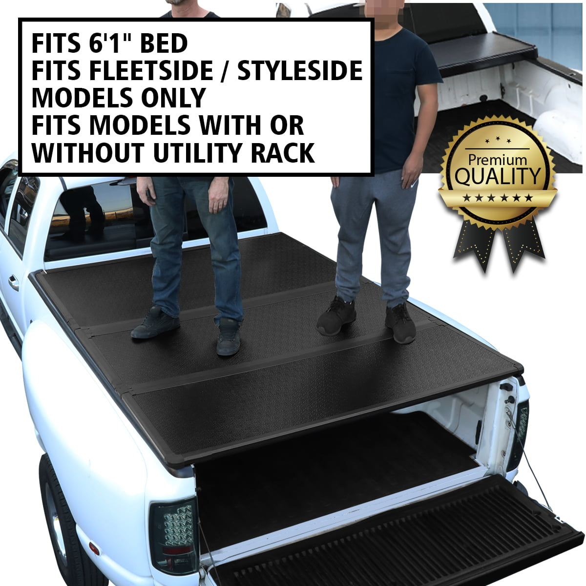 For 2005 2018 Nissan Frontier 6 1 Short Bed Fleetside Hard Solid Tri Fold Tonneau Cover Walmart Com Walmart Com