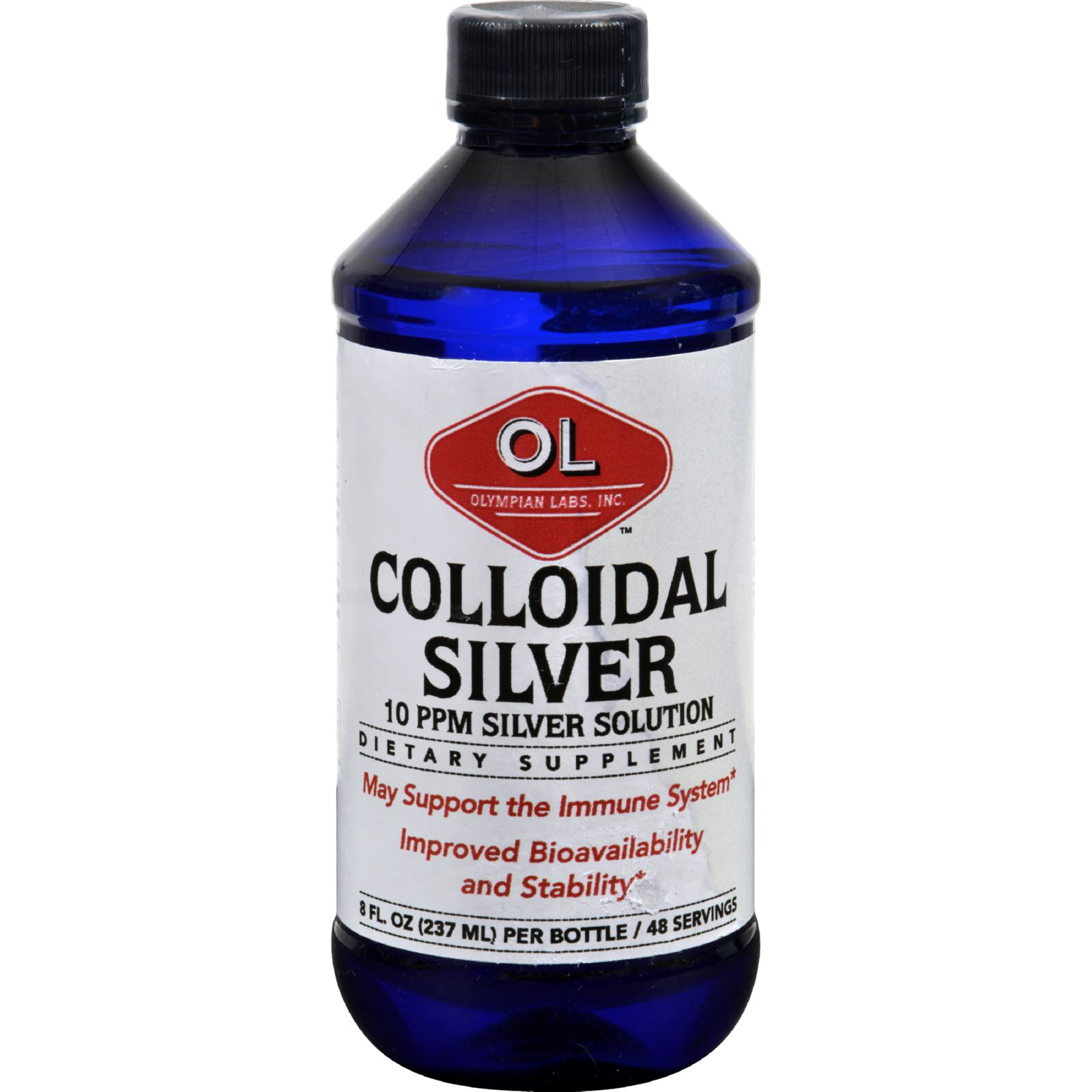 Olympian Labs-Colodial Silver, 50Mcg 48svgns