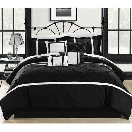Chic Home 127CQ112-US Comforter Set - Black, Vermont & White - Queen - 8 Piece