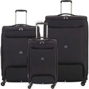 Delsey Chatillon Carry-on 25 Inch and 29 Inch - Black 3 Piece Set Spinner