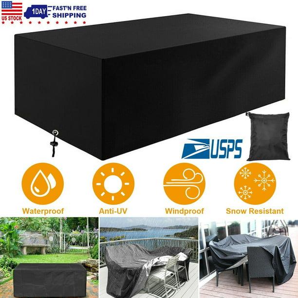Waterproof Outdoor Patio Furniture, Patio Table Covers Rectangular