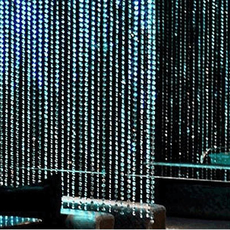 Efavormart PRINCESS-Style Endless Diamond Curtain Backdrops 8ft x 3ft Clear Diamonds w/ Metal Rod Top
