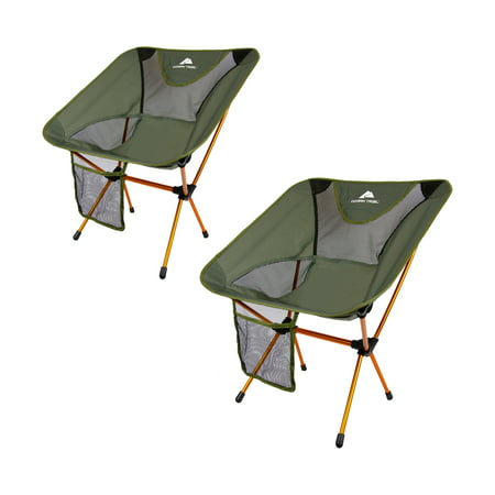 Ozark Trail Himont Compact Camp Lite Chair Set - 2 pack