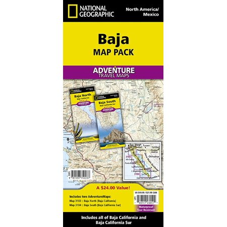 National geographic adventure map: baja [map pack bundle] - folded map: 9781597752237