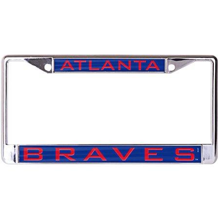 Atlanta Braves WinCraft Laser Inlaid Metal License Plate Frame - No Size
