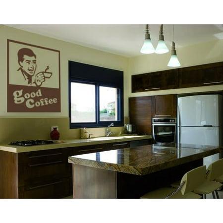Good Coffee Sign Wall Decal Wall Sticker Vinyl Wall Art Home Decor Wal