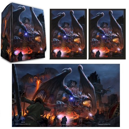 HASTA LA VISTA DRAGON 100ct Max Pro MTG Size Image Sleeves Deck Box (Ultra Pro Mtg Pro Tower Deck Box)