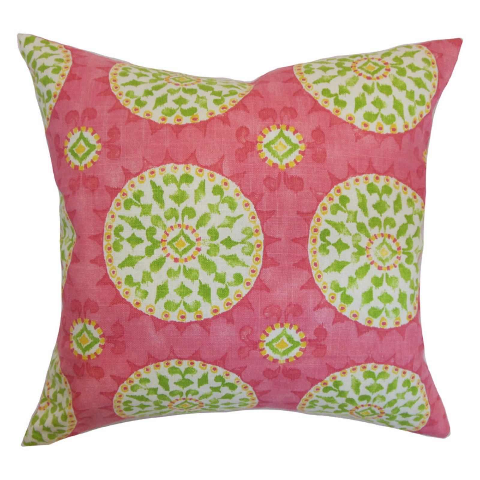 The Pillow Collection Darnley Geometric Pillow - Citrus